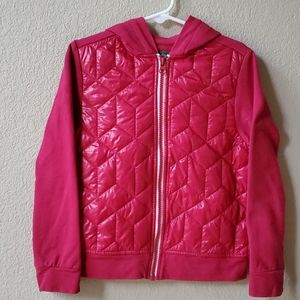 DIP Girls pink quilted hooded lightweight jacket 6